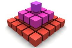 piramid da caixa 3d Fotografia de Stock
