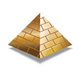 Piramid dell'oro Fotografia Stock Libera da Diritti