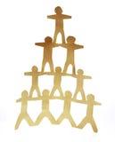 piramida człowiekiem Obraz Royalty Free