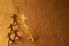 piramida człowiekiem Zdjęcia Royalty Free