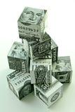 piramida finansowa koncepcję pieniądze Obrazy Stock