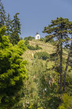 Piramida hill over Maribor with chapel on top Royalty Free Stock Images