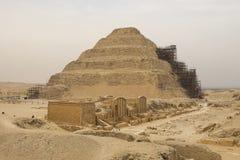 piramida nadepnął antyczni ostrosłupy Egipt Siódmego cud świat Antyczni megality Fotografia Stock
