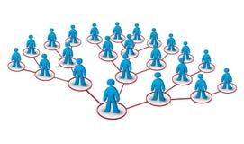 Piramidale marketing stock illustratie