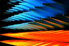 Piramidale vormen Stock Afbeelding