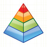 Piramide. This is 3d illustration Stock Images