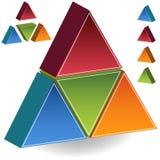 piramide 3D Fotografia Stock