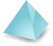 Piramide in bianco Fotografie Stock