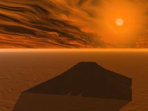 Piramide bij de zonsondergang vector illustratie