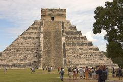 Piramide Chichen Itza Stock Foto's