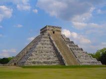 Piramide a Chichen Itza Fotografie Stock Libere da Diritti