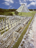 Piramide in chichen-Itza, Mexico Stock Afbeelding
