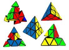 Piramide colorata su fondo bianco Fotografie Stock