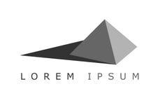 Piramide con ombra Logo Minimalistic Fotografia Stock Libera da Diritti