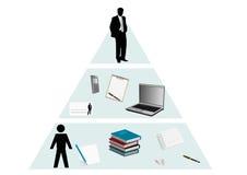 Piramide concettuale illustrazione di stock