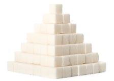 Piramide dai cubi dello zucchero Immagini Stock Libere da Diritti