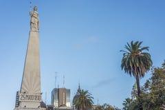 Piramide de马约角在布宜诺斯艾利斯,阿根廷 免版税库存图片