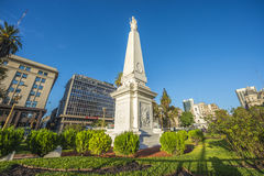 The Piramide de Mayo in Buenos Aires, Argentina. Stock Images