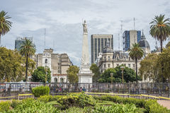 The Piramide de Mayo in Buenos Aires, Argentina. Stock Photography