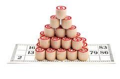 Piramide dei barili di bingo Fotografie Stock