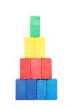 Piramide dei blocchetti di colore Fotografia Stock