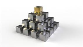 Piramide dei cubi Fotografia Stock