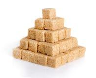 Piramide dei cubi dello zucchero di canna Immagini Stock