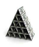 Piramide dei soldi Fotografie Stock Libere da Diritti