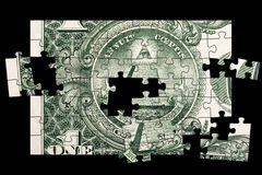 Piramide del Bill del dollaro Fotografie Stock