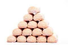 Piramide del biscotto Immagini Stock Libere da Diritti