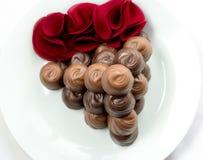 Piramide del cioccolato di San Valentino Immagini Stock Libere da Diritti