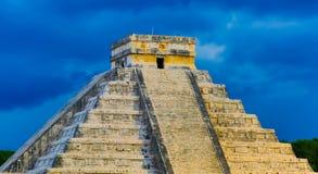 Piramide del ¡ di Chichén Itzà Immagini Stock Libere da Diritti
