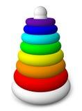Piramide del giocattolo dei bambini Fotografia Stock