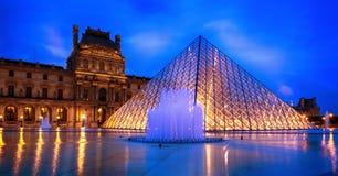 Piramide del Louvre Fotografia Stock