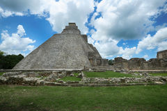 Piramide del mago in Uxmal, Yucatan, Messico Fotografie Stock