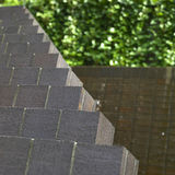 Piramide del mattone fotografia stock