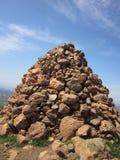 Piramide del mucchio della roccia Fotografie Stock