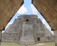 piramide del rabdomante in Uxmal Fotografia Stock