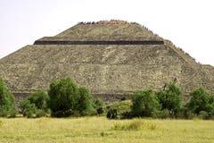 Piramide del Sun nel Messico immagine stock