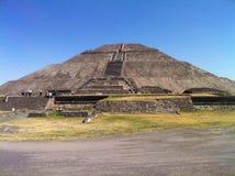 Piramide del Sun Teotihuacan, Messico Immagine Stock