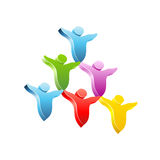 Piramide della gente. Icona di concetto di vettore Immagine Stock Libera da Diritti