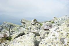 Piramide della roccia Fotografia Stock