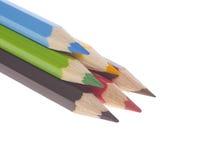 Piramide delle matite variopinte Immagini Stock