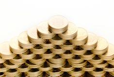 Piramide delle monete Fotografie Stock Libere da Diritti