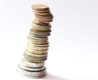 Piramide delle monete del metallo Immagini Stock
