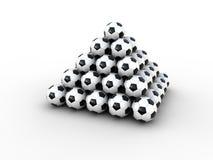 Piramide delle sfere di calcio Fotografia Stock
