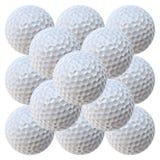 Piramide delle sfere di golf (MegaPixels 20.2) Fotografia Stock Libera da Diritti