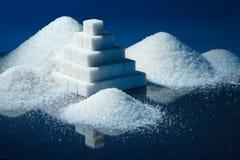 Piramide dello zucchero Fotografia Stock