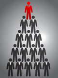 Piramide di affari Fotografia Stock Libera da Diritti