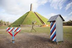 Piramide di Austerlitz su Utrechtse Heuvelrug Fotografia Stock